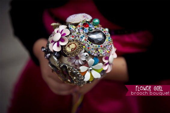 brooch bouquet for flower girls