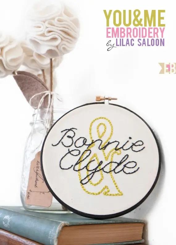 wedding embroidery hoops