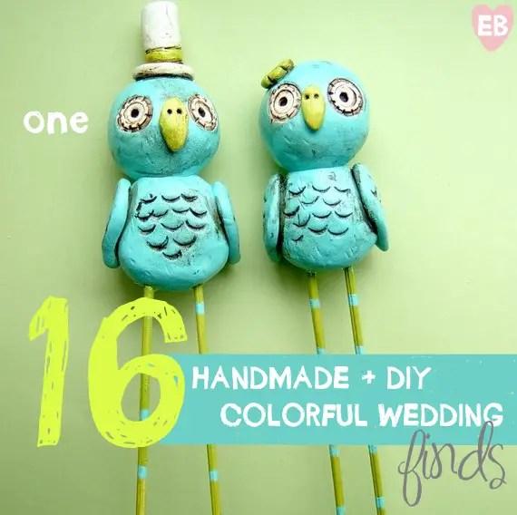 colorful handmade wedding