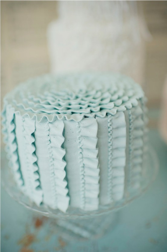 cake with ruffles