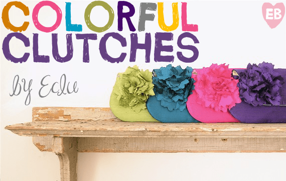colorful bridesmaid clutches