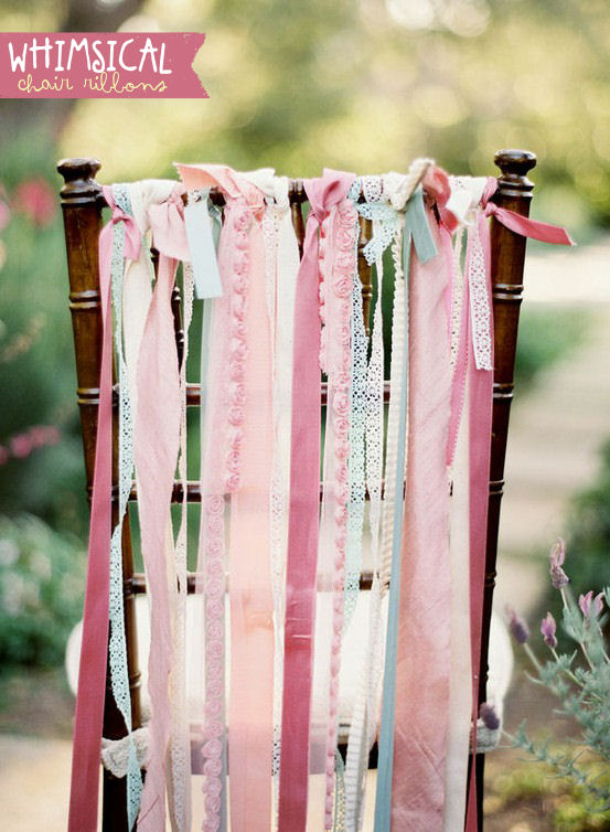 chair ribbons for weddings