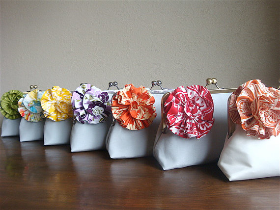 flower clutch purse