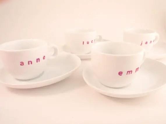 bridesmaid espresso cups