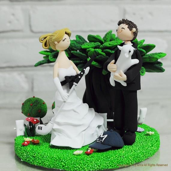 wedding cake toppers golf theme golf themed wedding ideas 26482