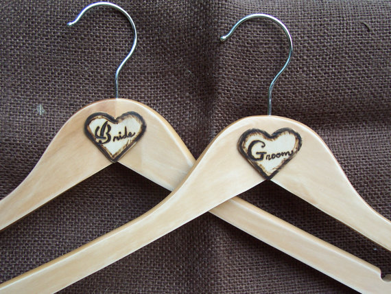 rustic wedding hangers