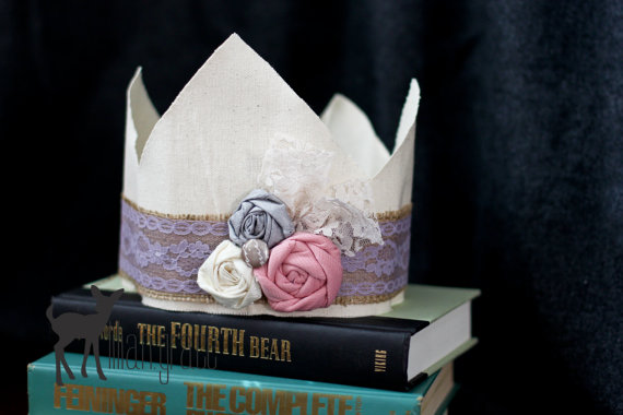 burlap wedding crown