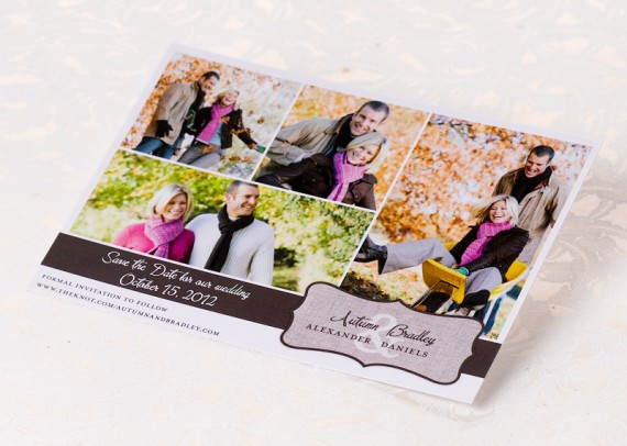 how to design save the date postcards