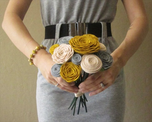 felt wedding bouquets