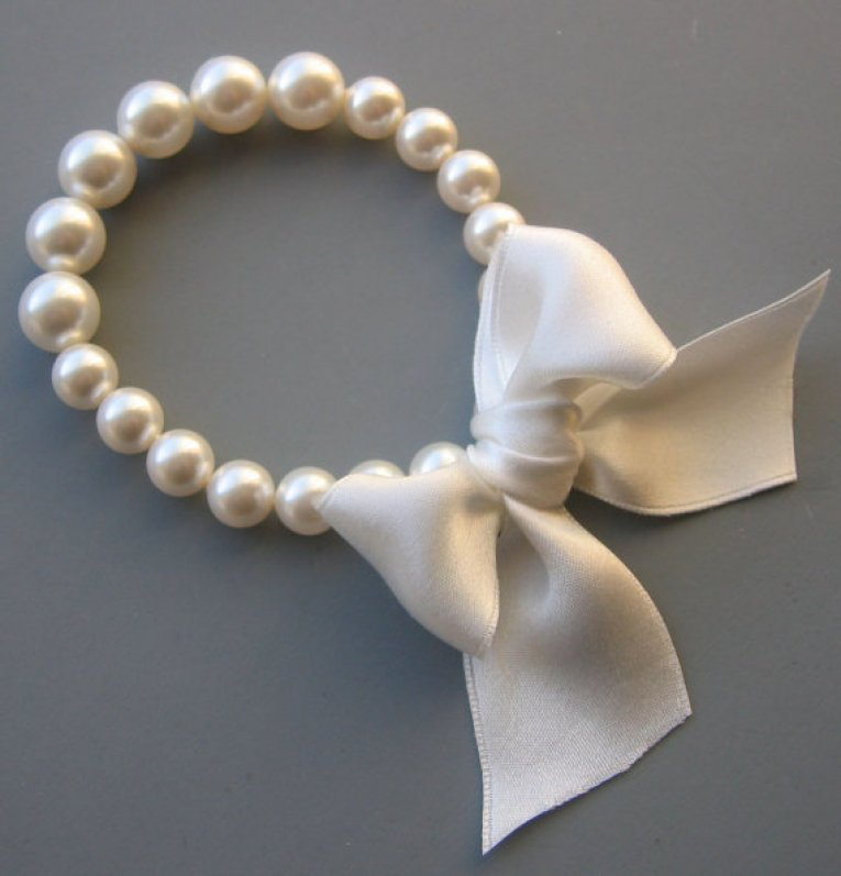 tiffanys pearl bracelet by LoveHonorUpcycle