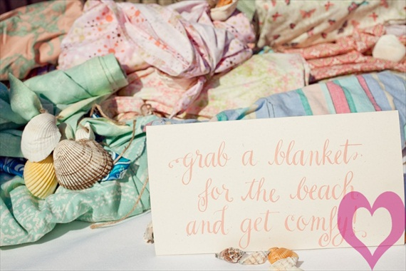 beach blankets wedding