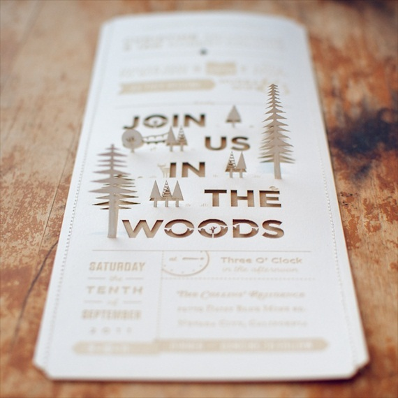 diy woodland wedding invitation