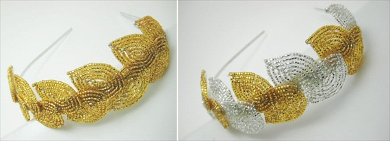 grecian wedding headpiece
