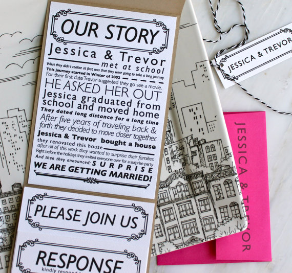 Handmade Custom Wedding Invitations
