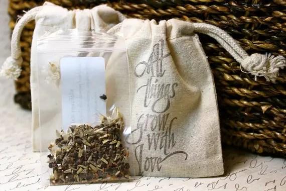 handmade wedding seed favors