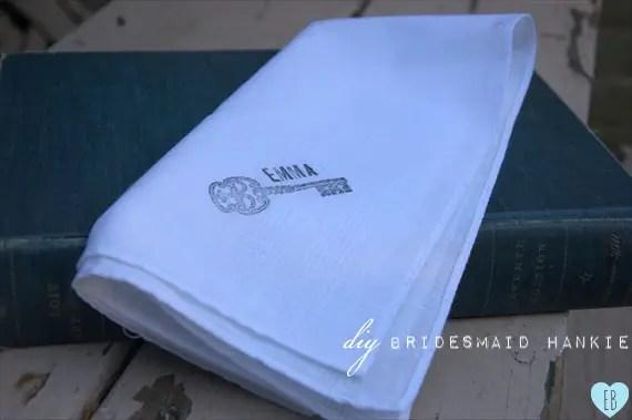 diy diy wedding handkerchief
