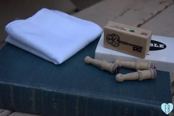 diy wedding handkerchief