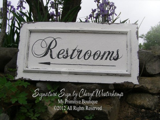 bathroom wedding ideas