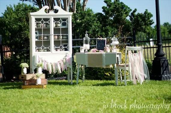 shabby chic wedding display