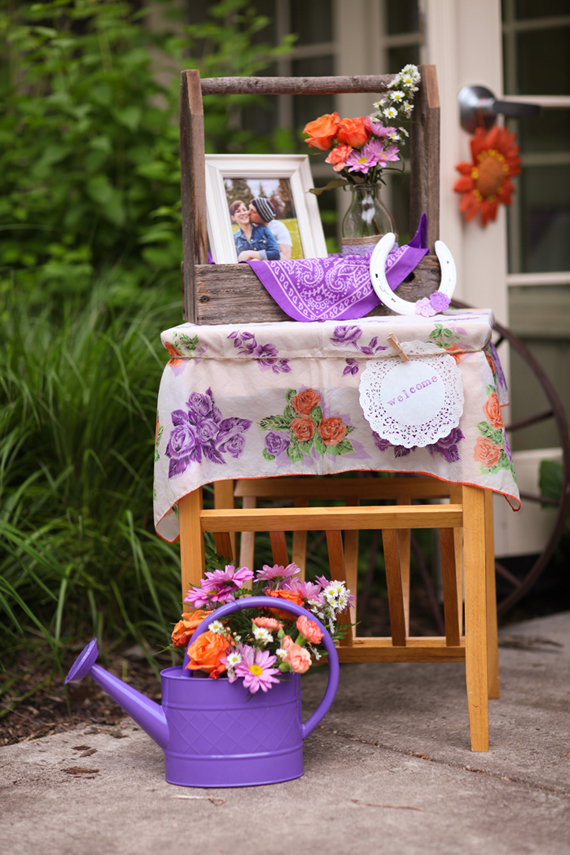 rustic bridal shower table