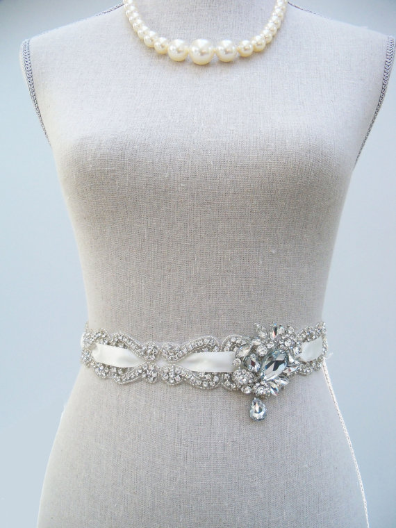 bridal dress sash