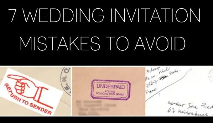 wedding invitation mistakes to avoid