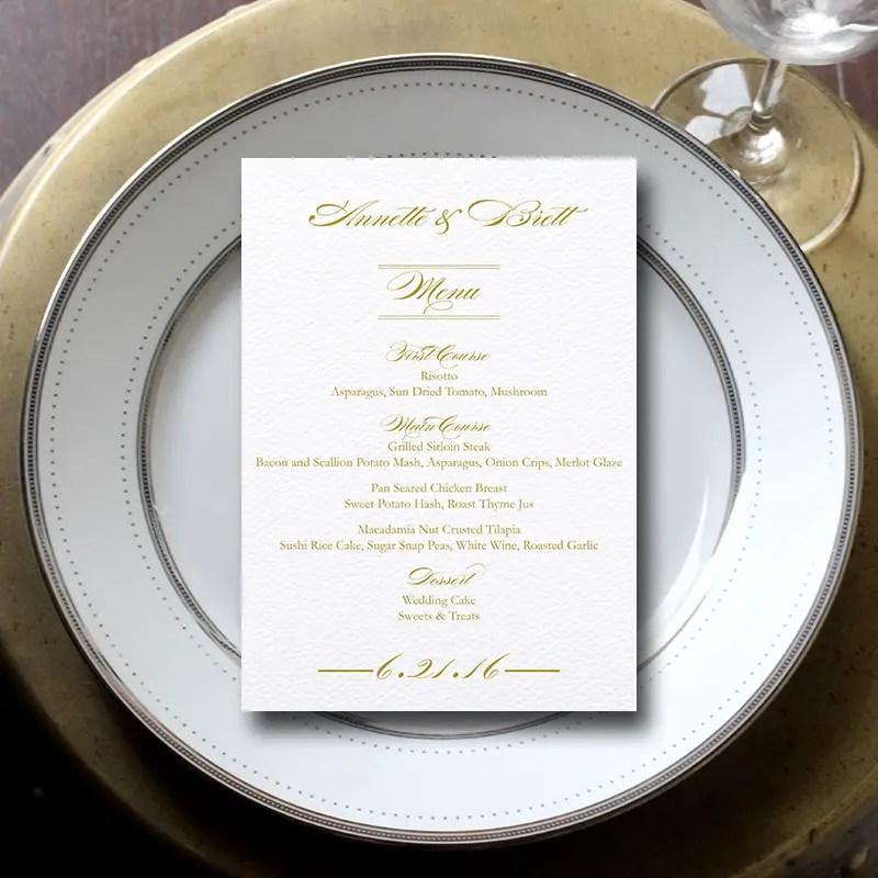 Wedding Menu Cards 3 Reasons Why You Need Them Emmaline Bride
