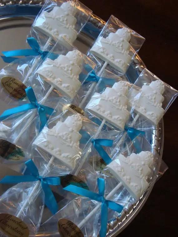 chocolate wedding cake lollipops