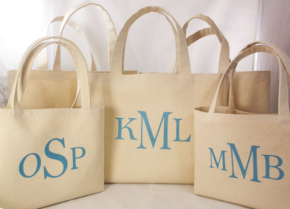 personalized tote bags for bridesmaids