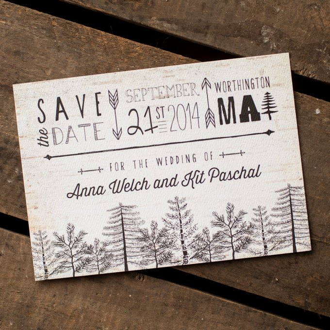 tree themed save the dates