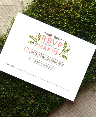 rsvp card bicycle themed wedding