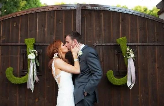 moss wedding ideas - monogram letters