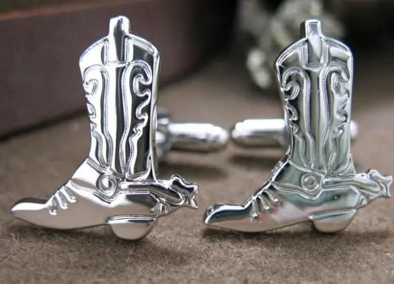 cowboy boot cufflinks