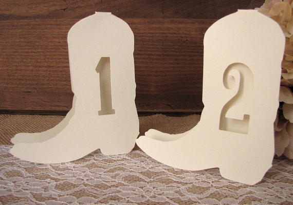western wedding table numbers