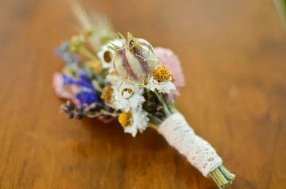 spring wildflower boutonniere