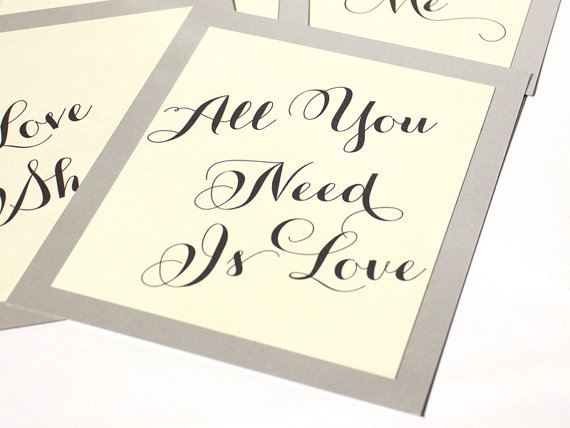 table name numbers music all you need is love by ShannaMicheleDesigns