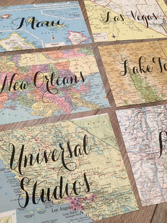 travel table names by tinedesigns