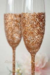 rose gold champagne by LaivaArt