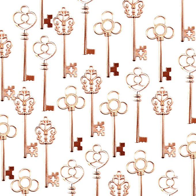 rose gold key favors