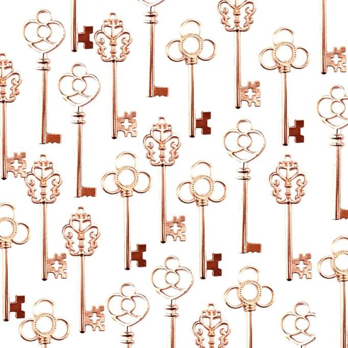 rose gold key favors