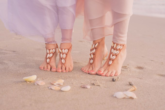 what shoes to wear for beach wedding