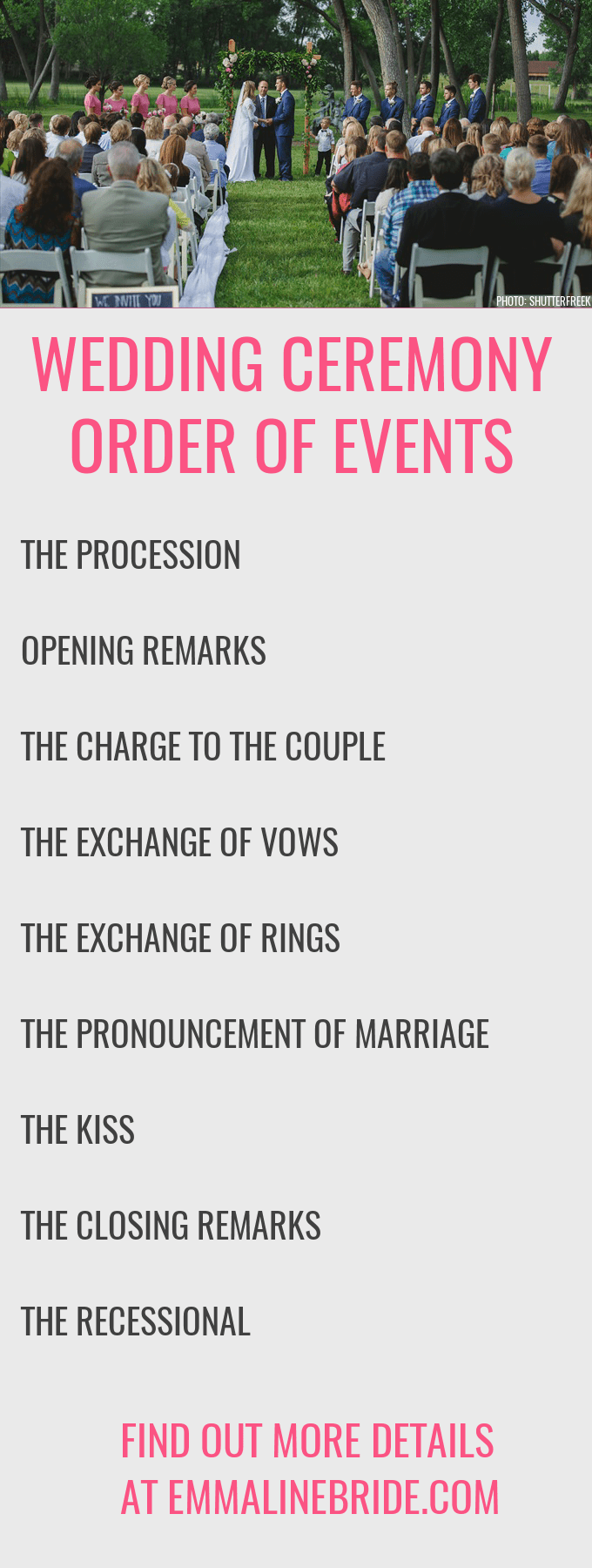 How to ceremony order of events emmaline bride wedding ceremony order of events httpemmalinebrideceremony junglespirit Gallery