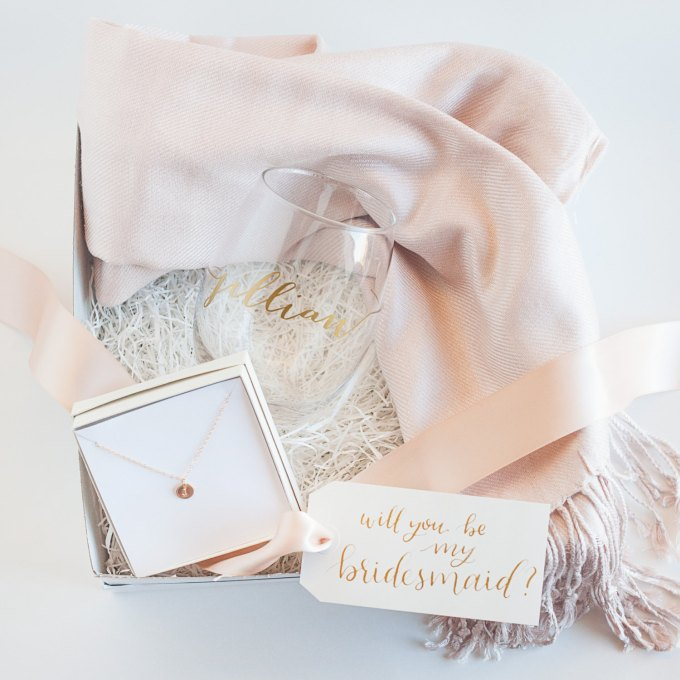 Ultimate Bridesmaid Gift Box | by Deighan Design | http://emmalinebride.com/gifts/bridesmaid-gift-box/