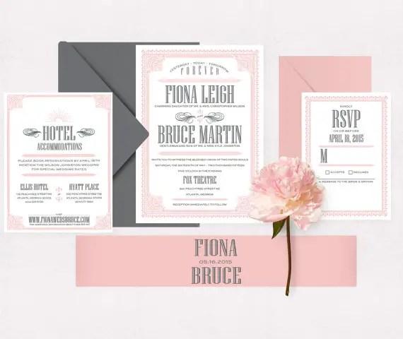 grey and pink vintage suite