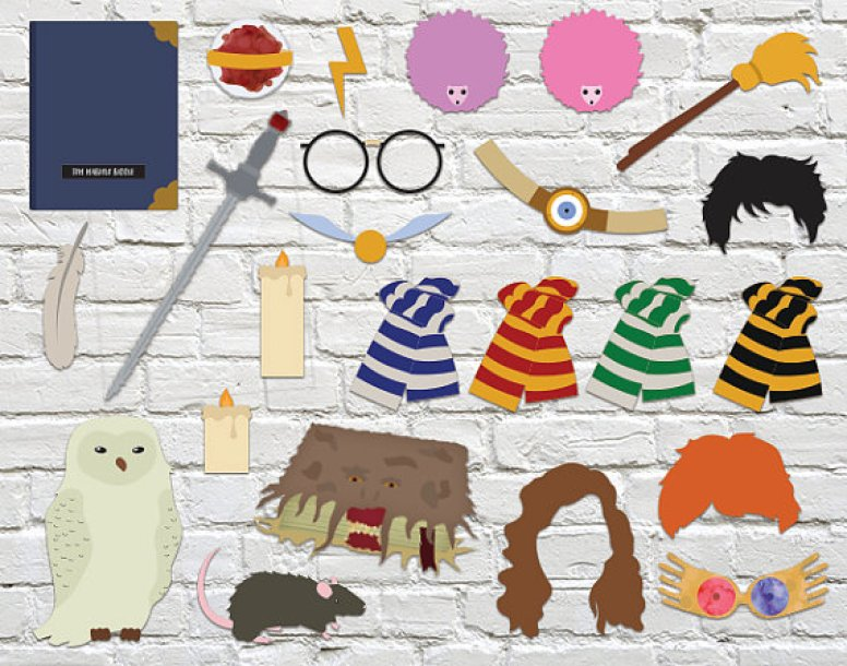 harry potter wedding photo booth props2