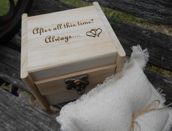 harry potter wedding ring box always