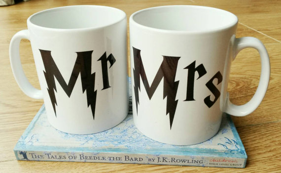 mr mrs mugs harry potter wedding