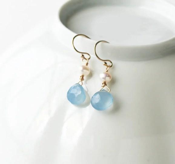 pale blue earrings