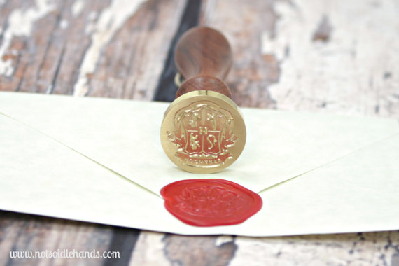 wax seal for harry potter wedding invitations hogwarts