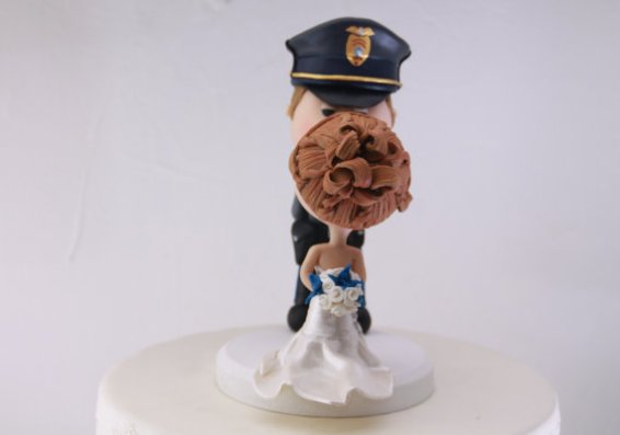 police officer figurine cake topper for weddings - imagetwo